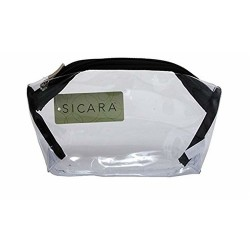 Sicara clear bottom purse cosmetic bags - 3 ea
