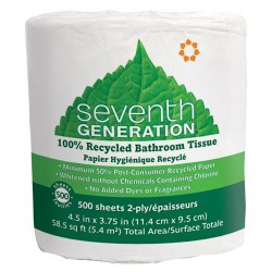 Seventh generation bathroom tissues 100% recycled, unscented - 500 sheets, 60 pack