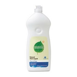 Seventh generation natural dishwashing liquid - 25 oz , 12 pack
