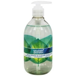 Seventh generation - natural hand wash free & clean unscented - 12 oz. (354Ml)