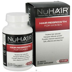 NuHair hair regrowth dietary supplement tablets for women - 60 ea