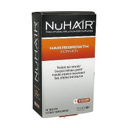 NuHair hair regrowth tablets for men, 50 ea