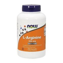 Nowfoods l-arginine 500mg dietry supplements, Capsules - 250 ea