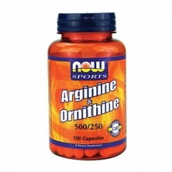 Nowfoods arginine and citrulline 500/250mg dietry supplements, Capsules - 100 ea