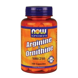 Nowfoods arginine and citrulline 500/250mg dietry supplements, Capsules - 250 ea