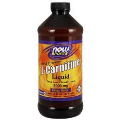 Nowfoods l-carnitine 3000mg dietry supplements, Liquid cituras flavor - 16 oz