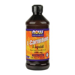 Nowfoods l-carnitine 1000mg dietry supplements, Liquid tropical punch flavor - 16 oz