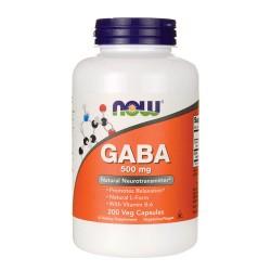 Nowfoods gaba 500mg dietry supplements, Veg capsules - 200 ea