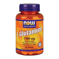 Nowfoods l-glutamine 1500mg dietry supplements, Cablets - 90 ea