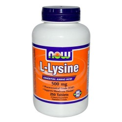 Nowfoods l-lysine 500mg dietry supplements, Tablets - 250 ea