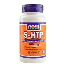 Nowfoods 5-HTP 100mg dietry supplements veg capsules - 60 ea