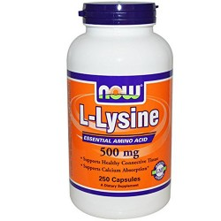 Nowfoods l-lysine 500mg dietry supplements capsules - 250 ea