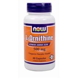 Now foods l-ornithine 500 mg veg capsules - 60 ea
