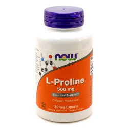 Nowfoods l-proline 500mg dietry supplements, Veg capsules - 120 ea