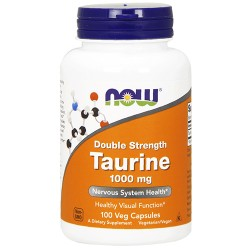 Now foods taurine double strength 1000 mg veg capsules - 100 ea