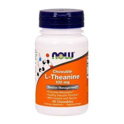 Nowfoods l-theanine 100mg dietry supplements, Chewable - 90 ea