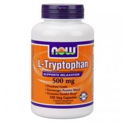 Nowfoods l-tryptophan 500mg extra strength dietry supplements, Veg capsules - 120 ea