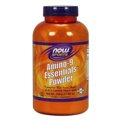 Nowfoods amino-9 essentials powder dietry supplements, Powder - 11 oz