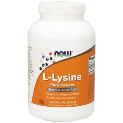 Nowfoods l-lysine pure powder dietry supplements, Powder - 1 lb