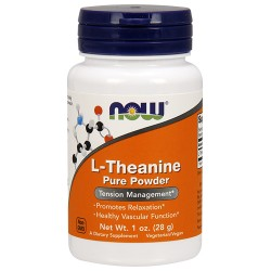 Nowfoods l-theanine pure powder dietry supplements,Powder - 1 oz