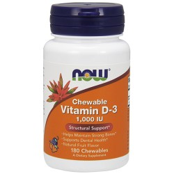 Nowfoods vitamin d-3 1000 iu dietry supplements, Chewables - 180 ea