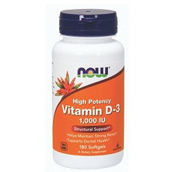 Nowfoods vitamin d-3 1000 iu high potency dietry supplements, Softgels - 180 ea