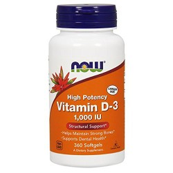 Now Foods high potency vitamin D-3 softgels - 360 ea