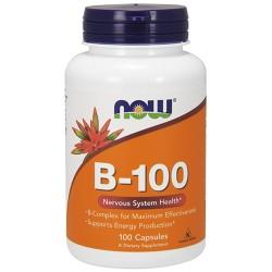 Nowfoods vitamin b-100 dietry supplements, Capsules - 100 ea