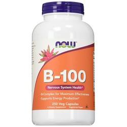 Nowfoods vitamin b-100 dietry supplements, Veg capsules - 250 ea
