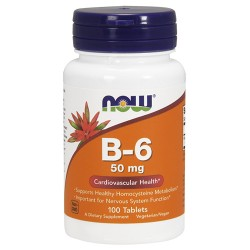 Nowfoods vitamin b-6 50mg dietry supplements, Tablets - 100 ea