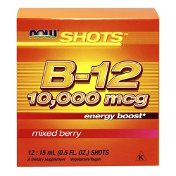 Nowfoods b-12 10000mcg shots dietry supplements, Mixed berry - 0.5 oz