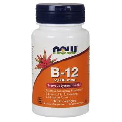 Nowfoods vitamin B-12 2000 mcg lozengers - 100 ea