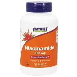 Nowfoods niacinamide 500mg b-3 capsules dietry supplements, Capsules - 100 ea
