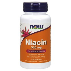 Nowfoods niacin 500mg dietry supplements, Tablets - 100 ea