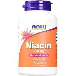 Nowfoods niacin 500mg vitamin b-3 dietry supplements, Capsules - 100 ea