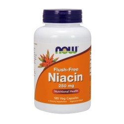 Nowfoods flush free niacin 250mg dietry supplements, Veg capsules - 180 ea