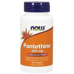 Nowfoods pantothenic 300mg dietry supplements, Softgels - 60 ea