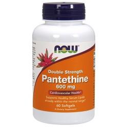 Nowfoods pantothenic 600mg dietry supplements, Softgels - 60 ea