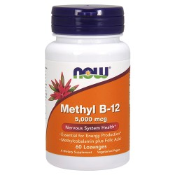 Nowfoods methyl b-12 5000mcg dietry supplements, Lozenges - 60 ea