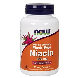 Nowfoods double strength flush free niacin 500mg dietry supplements, Veg capsules - 90 ea