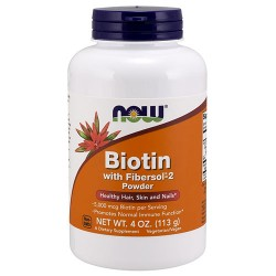Biotin with fibersol-2 now foods powder - 4 oz