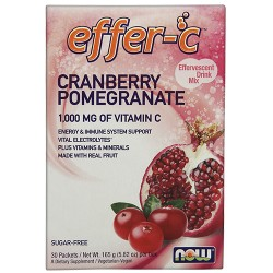 Nowfoods effer-c dietry supplements, Cranberry promegranate - 7 oz