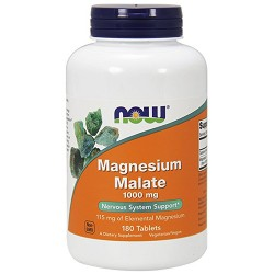 Nowfoods magnesium malate 1000mg dietry supplements, tablets - 180 ea