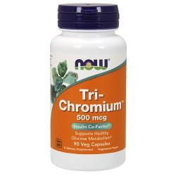 Nowfoods tri chromium 500mcg dietry supplements, veg capsules - 90 ea