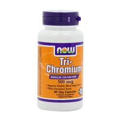 Now foods tri chromium 500 mcg with cinnamon veg capsuls - 90 ea