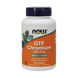 Now foods chromium insulin cofactor gtf 200mcg - 250 ea