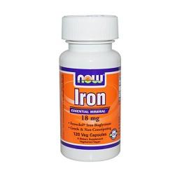 Now Foods iron 18 mg veg capsules - 120 ea