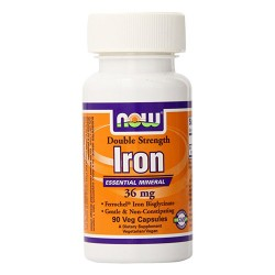 Now foods iron bisglycinate capsules 36 mg,  veg capsuls - 90 ea