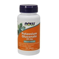 Now foods potassium gluconate 99mg, tablets - 100 ea