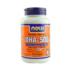 Now foods double strength dha 500 softgels - 90 ea